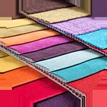 Stuffmuster mit verschiedenen Qualitäten und Farben.